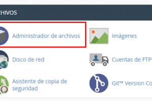 Archivos en Cpanel