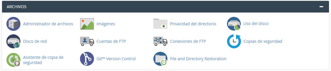 Administración de archivos en Cpanel